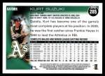 2010 Topps #285  Kurt Suzuki  Back Thumbnail