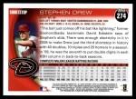 2010 Topps #274  Stephen Drew  Back Thumbnail