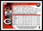 2010 Topps #262  Homer Bailey  Back Thumbnail