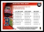 2010 Topps #288   Red Sox History Back Thumbnail