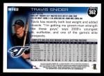 2010 Topps #362  Travis Snider  Back Thumbnail