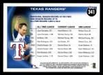 2010 Topps #341   Rangers History Back Thumbnail