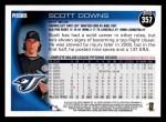2010 Topps #357  Scott Downs  Back Thumbnail