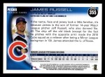 2010 Topps #355  James Russell  Back Thumbnail