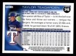 2010 Topps #346  Taylor Teagarden  Back Thumbnail