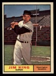 1961 Topps #351  Jim King  Front Thumbnail