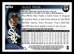 2010 Topps #324  Alex Rios  Back Thumbnail