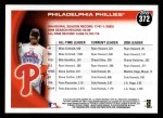 2010 Topps #372   Phillies History Back Thumbnail