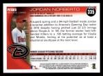 2010 Topps #335  Jordan Norberto  Back Thumbnail