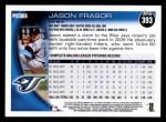 2010 Topps #393  Jason Frasor  Back Thumbnail