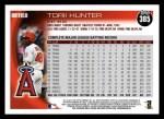 2010 Topps #385  Torii Hunter  Back Thumbnail