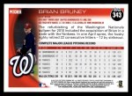 2010 Topps #343  Brian Bruney  Back Thumbnail