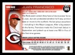 2010 Topps #305  Juan Francisco  Back Thumbnail
