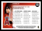 2010 Topps #356   Angels History Back Thumbnail