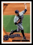 2010 Topps #391  Manny Parra  Front Thumbnail