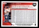 2010 Topps #380  J.D. Drew  Back Thumbnail