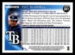2010 Topps #321  Pat Burrell  Back Thumbnail