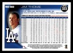 2010 Topps #323  Jim Thome  Back Thumbnail