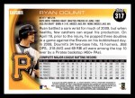 2010 Topps #317  Ryan Doumit  Back Thumbnail