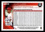 2010 Topps #325  Julio Lugo  Back Thumbnail