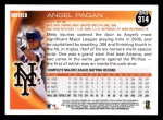 2010 Topps #314  Angel Pagan  Back Thumbnail