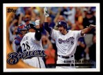 2010 Topps #350   -  Prince Fielder / Ryan Braun Bernie's Bash Brothers Front Thumbnail