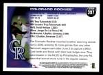 2010 Topps #397   Rockies Team Back Thumbnail