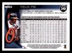 2010 Topps #349  Felix Pie  Back Thumbnail