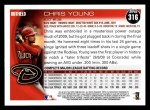 2010 Topps #316  Chris Young  Back Thumbnail