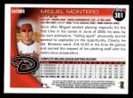 2010 Topps #381  Miguel Montero  Back Thumbnail