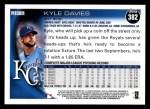 2010 Topps #382  Kyle Davies  Back Thumbnail