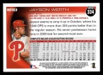 2010 Topps #334  Jayson Werth  Back Thumbnail