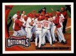2010 Topps #361   Nationals Team Front Thumbnail