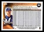 2010 Topps #364  Trevor Hoffman  Back Thumbnail