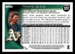 2010 Topps #322  Travis Buck  Back Thumbnail