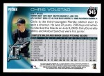 2010 Topps #345  Chris Volstad  Back Thumbnail