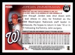 2010 Topps #348  Jordan Zimmermann  Back Thumbnail