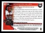 2010 Topps #330  Brandon Allen  Back Thumbnail