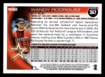 2010 Topps #367  Wandy Rodriguez  Back Thumbnail