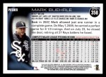 2010 Topps #358  Mark Buehrle  Back Thumbnail