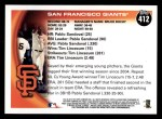 2010 Topps #412   Giants Team Back Thumbnail