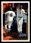 2010 Topps #412   Giants Team Front Thumbnail