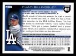 2010 Topps #401  Chad Billingsley  Back Thumbnail