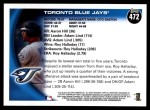 2010 Topps #472   Blue Jays Team Back Thumbnail