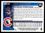 2010 Topps #484  Mike Fontenot  Back Thumbnail