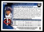 2010 Topps #464  Francisco Liriano  Back Thumbnail