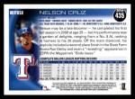 2010 Topps #435  Nelson Cruz  Back Thumbnail