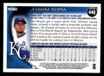 2010 Topps #448  Joakim Soria  Back Thumbnail