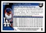 2010 Topps #491  Rafael Furcal  Back Thumbnail