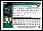 2010 Topps #496  Rajai Davis  Back Thumbnail